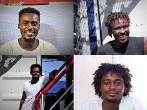 In ordine, da sinistra: Abdul, Anas, Bob e Muaz.