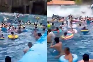 Onda anomala nella piscina del parco acquatico travolge i bagnanti: 44 feriti, tra cui bambini