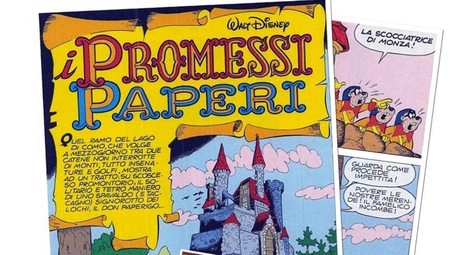 """""""I promessi paperi"""", disegnati da Giulio Chierchini."""