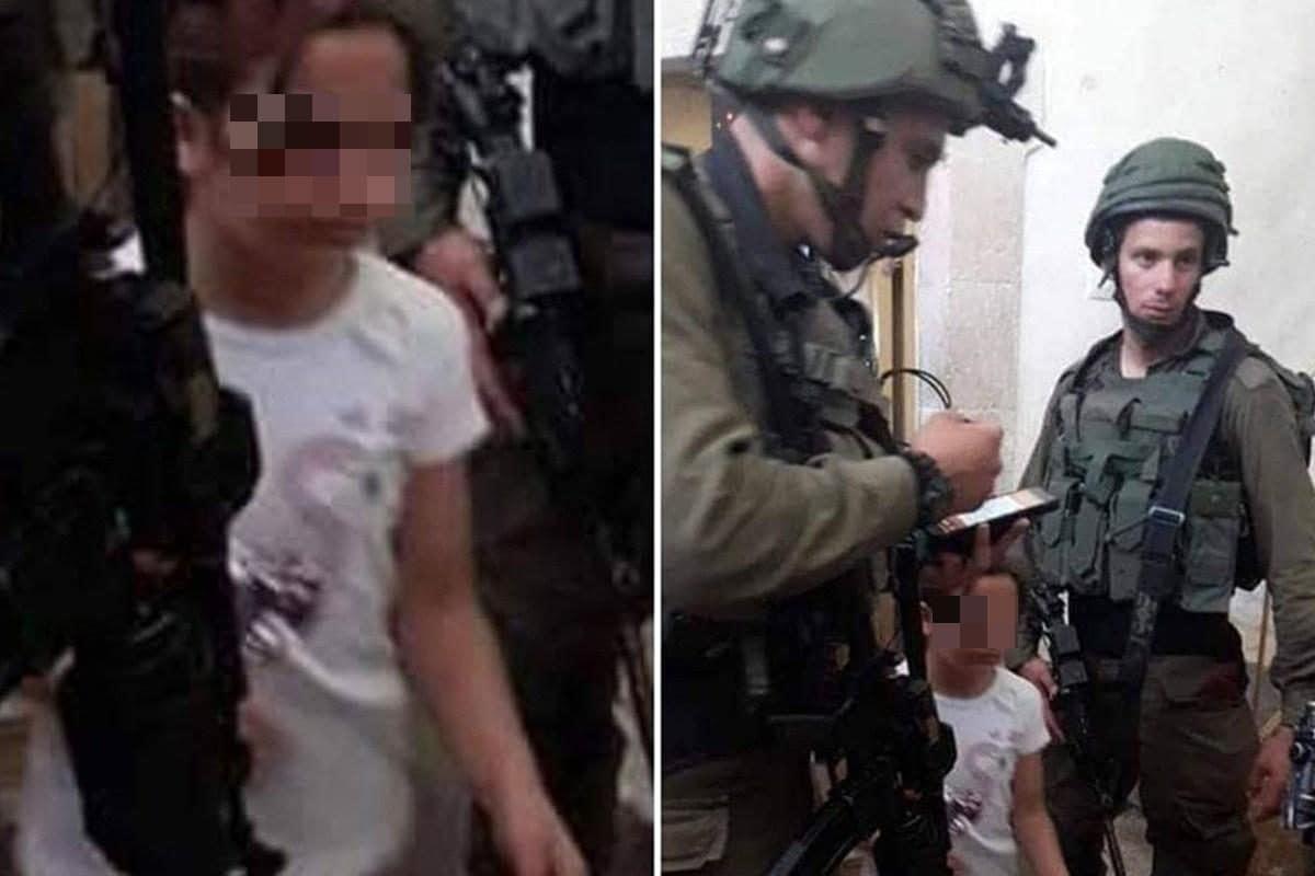 Malak Sadr, 8 anni, di Hebron durante l'irruzione dei soldati israeliani a casa sua (Middle East Monitor)