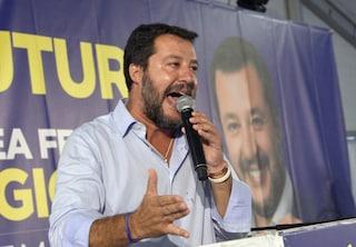 """Matteo Salvini: """"Bimba di Bibbiano sul palco? Chi se ne frega, il delinquente non sono io"""""""