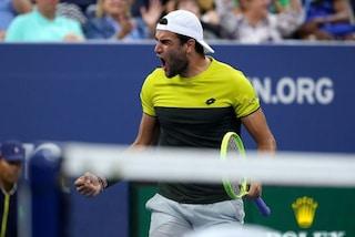 US Open, Matteo Berrettini ai quarti 42 anni dopo Barazzutti