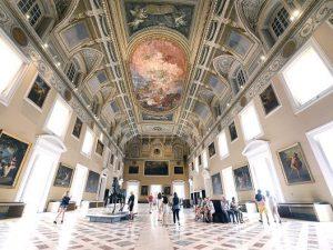 La splendida sala della Meridiana al Museo Archeologico Nazionale di Napoli.