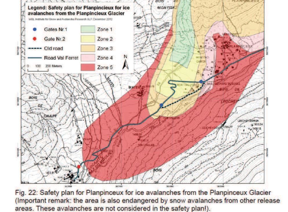 La planimetria con le zone a rischio per il crollo