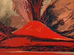 """Dalla mostra """"Andy Warhol"""" di Napoli: """"Vesuvius"""", 1985. Collezione Eugenio Falcioni © The Andy Warhol Foundation for the Visual Arts Inc. by SIAE 2019 per A.Warhol (da Gruppo Arthemisia)."""