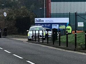 La polizia sul luogo della scoperta choc