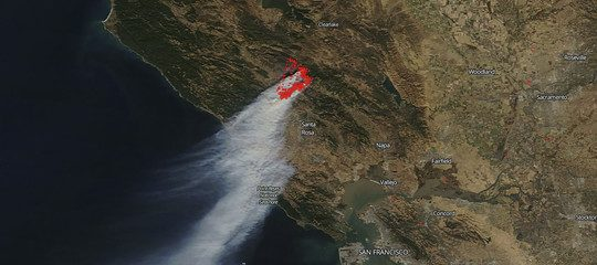 Incendi California, foto NASA