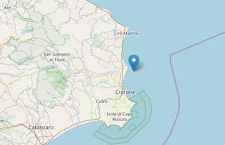 Terremoto in Calabria, epicentro al largo di Crotone: magnitudo 3.7