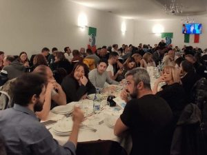 I partecipanti alla cena di Acquasanta Terme