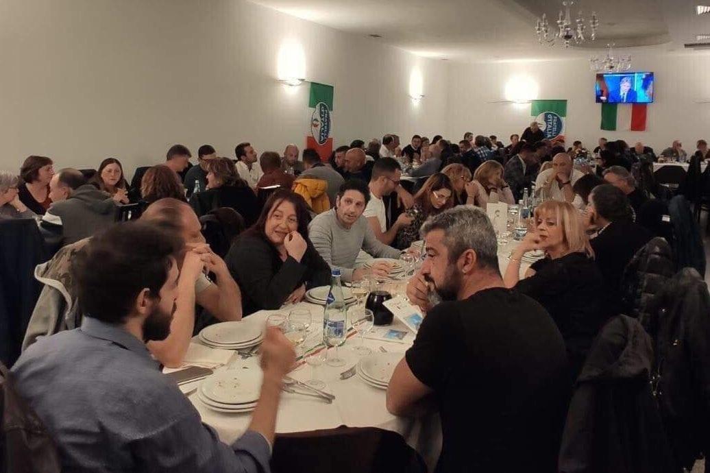 I partecipanti alla cena commemorativa della Marcia su Roma