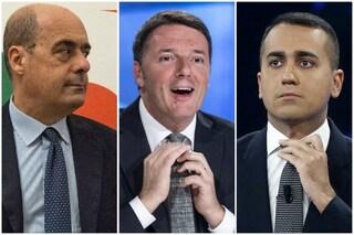 Sondaggi elettorali, crollano Pd e M5s: entrambi sotto il 19%. Cresce Italia Viva, supera il 5%