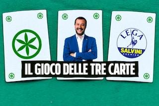 Una Lega povera e piena di debiti, una Lega ricca e pulita: il gioco delle tre carte di Salvini