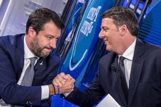 Cosa è successo durante lo scontro in tv Renzi-Salvini