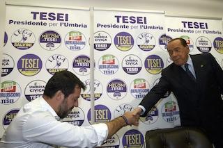 """Berlusconi incorona Salvini: """"È lui il leader del centrodestra"""""""