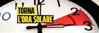 Torna l'ora solare, alle 3 della prossima notte lancette indietro di un'ora