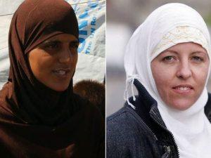 Tooba Gondal (a sinistra) e Lisa Smith, le due britanniche affiliate all'Isis fuggite dal campo di Ain Issa (ITV)