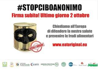 Stop cibo anonimo la petizione supera le 970 mila firme e si avvia verso il milione