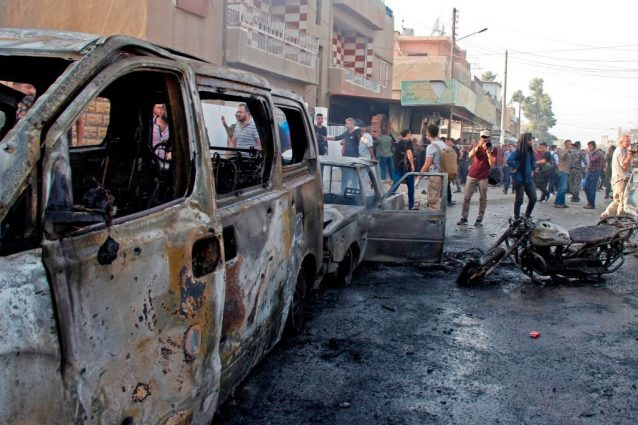 Autobomba esplosa a Qamishli (Getty).