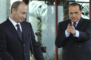 """Russiagate, Berlusconi: """"Salvini non ha preso rubli russi, me lo ha detto Putin"""""""