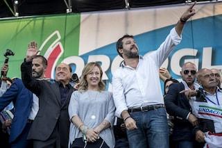 Sondaggi elettorali, vola la Lega: Salvini torna al 33%, crescono anche Fdi e Fi