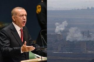 """Siria, Erdogan continua l'offensiva nonostante il cessate il fuoco: """"La Turchia non va via"""""""