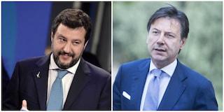"""Conte minaccia querela, Salvini fa lo spavaldo: """"Si metta in fila, prima c'è Carola"""""""