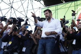 """Matteo Salvini: """"Il governo èsquallido, fossimo in un Paese normale ci sarebbero manifestazioni"""""""