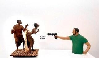Sì, Salvini: quella scultura sei proprio tu
