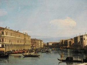 Il Canal Grande, dipinto da Canaletto nel 1726, è conservato alla Galleria degli Uffizi.