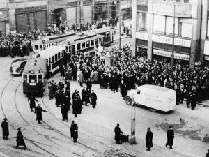 La manifestazione studentesca di Praga del 17 novembre 1939.