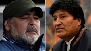"""Maradona sta con Morale: """"E' stato un golpe. Lui ha aiutato i poveri boliviani"""""""