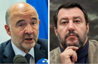 """Mes, per Moscovici è """"decisivo"""". Salvini: """"La riforma mette le banche italiane in pericolo"""""""