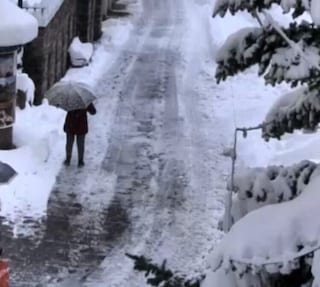 Treviso, alberi caduti e blackout per il vento fortissimo. Sulle Dolomiti caos per la neve
