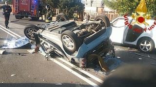 Siracusa, dramma a Targia: smart si ribalta dopo uno scontro, Sebastiano muore a 34 anni