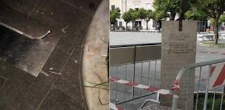 Massa, distrutta per la sesta volta la statua in memoria di Cristina Biagi, uccisa dal marito