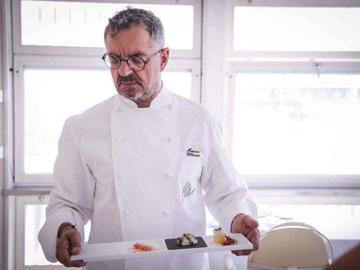 Lo chef Uliassi, 3 stelle dell'omonimo ristorante di Senigallia