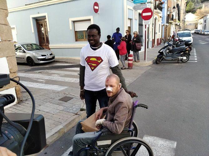 Álex ha regalato a Gorgui una maglietta di Superman quando si sono incontrati (deniadigital.es)