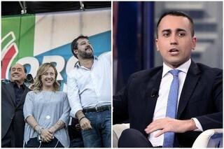 """Berlusconi-Meloni-Salvini attaccano la maggioranza, Di Maio: """"Sono buoni solo per le televendite"""""""