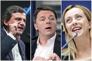 Sondaggi elettorali, con la nascita di Azione di Calenda crolla Italia Viva. Fdi vola all'11%