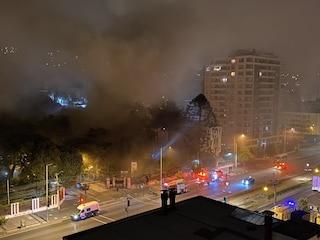 """Cile, incendio danneggia """"Casa Italia"""", patrimonio architettonico della città"""