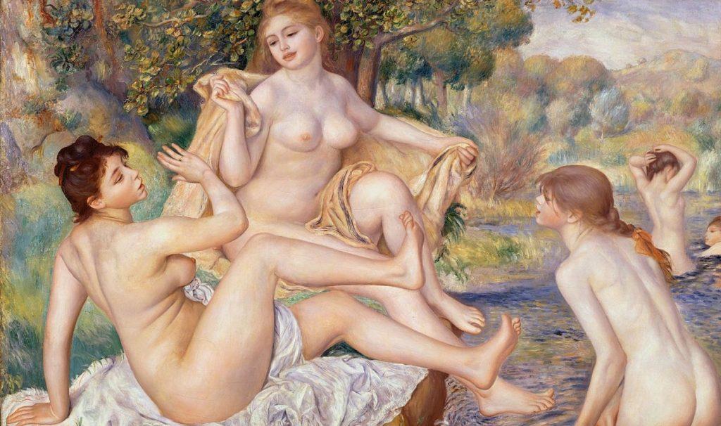 "Pierre-Auguste Renoir, ""Le grandi bagnanti"" (1884-1887), Philadelphia Museum of Art."