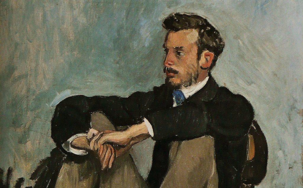 """Frédéric Bazille, """"Ritratto di Pierre-Auguste Renoir"""" (1867), Musée Fabre, Montpellier."""