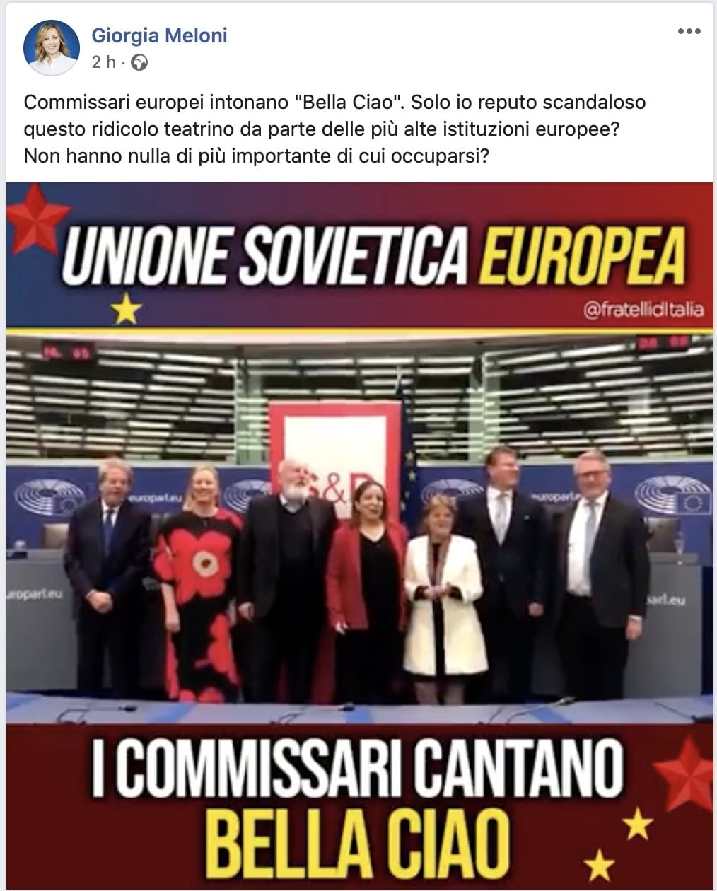 Ue, i commissari socialisti cantano