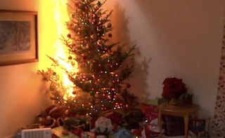 Torino, albero di Natale va a fuoco in casa: in ospedale mamma e 2 bimbi, palazzo evacuato