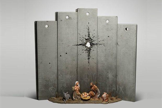 L'ultima opera di Banksy è un presepe in guerra