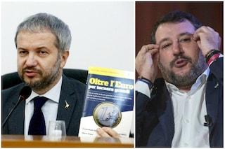 """Borghi torna all'attacco sull'uscita dall'euro: """"Non è un tabù"""". Ma perfino Salvini lo smentisce"""