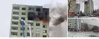 Slovacchia: esplode bombola di gas in un grattacielo. Cinque morti, molti intrappolati tra le fiamme