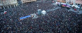 """Sardine a Bologna: """"Siamo 40 mila, piazza strapiena: sarà la svolta"""""""