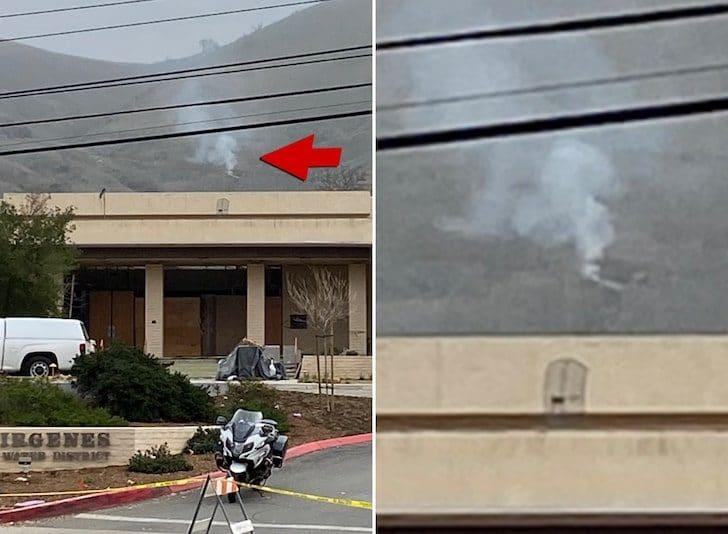 La zona dove è caduto l'elicottero di Kobe Bryant – Foto da TMZ