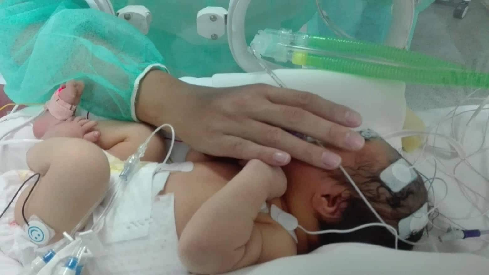 Gennaro appena nato e la sua mamma.